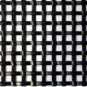 Interwoven Effect Square Decorative Grille Powder Coated Black Aluminium 1000mm x 660mm x 1.5mm